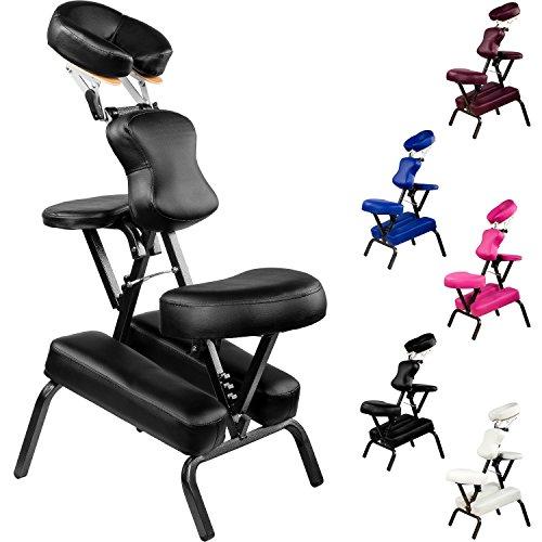 Preisvergleich Produktbild MOVIT® Faltbarer Massagestuhl / Tattoo Stuhl inkl. Tasche, Qualitätsrahmen, belastbar bis 200 kg, Gewicht ca. 8 kg, Farbe schwarz