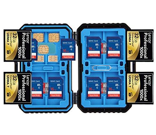 iLifeTech Speicherkarten-Sammel-/Schutzhülle, Wasserdichte Professionelle Speicherkarten-Hülle für Micro-SD SDHC SDXC TF SIM CF. (Case Nano Sim)