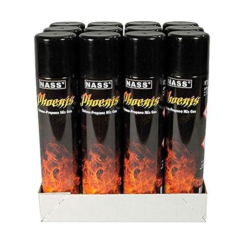 Lot de 3 - Recharge gaz pour briquet `Phoenix` 250ml - Qualité COOLMINIPRIX®