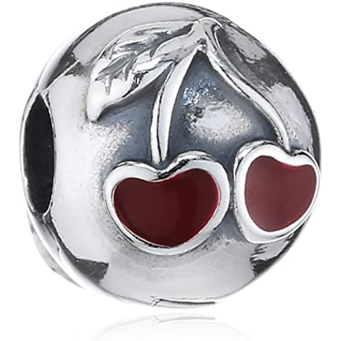 Pandora 791093EN39 - Ciondolo da donna, argento sterling 925 e smalto - Pandora Fiore Charm