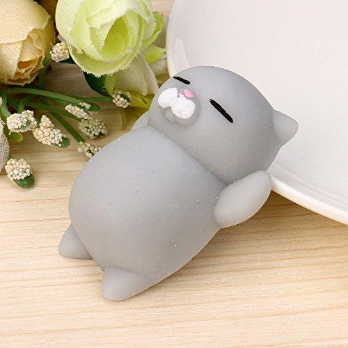 Kenmont Squishies Squeeze Spielzeug Niedlich Langsam Rising Squishy Spielzeug Stress Relief Toy (Graue Katze)