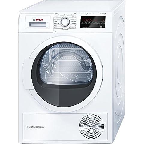 Bosch WTW85469IT Independiente Carga frontal 9kg A++ Color blanco - Secadora (Independiente, Carga frontal, Bomba de calor, A++, Color blanco, B)