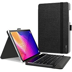 Infiland Clavier Coque Compatible avec Galaxy Tab S5e, [AZERTY] Détachable Clavier avec Haute Qualité Housse Étui pour Samsung Galaxy Tab S5e 10.5 T720/T725 2019, Noir