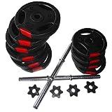Bodypower 21Kg Tri Grip VINYL Dumbbell Weight Set