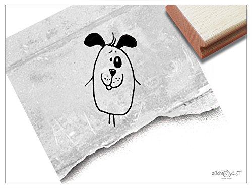 Stempel - Kinderstempel Lustiger Hund - Bildstempel Motivstempel Geschenk für Kinder - Schule Kita Einschulung Basteln Deko - von zAcheR-fineT