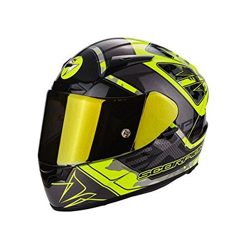 Scorpion Casco Moto EXO-2000 EVO AIR Brutus, Neon Yellow/Silver, M - Evo Air