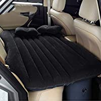 Colchón Inflable Coche SUV Multifuncional Plegable Cama Inflable para Asiento Trasero de Coche con Bomba de Aire Eléctrica + 2 Almohadas Sofá Hinchable con Inflador de Auto Negro
