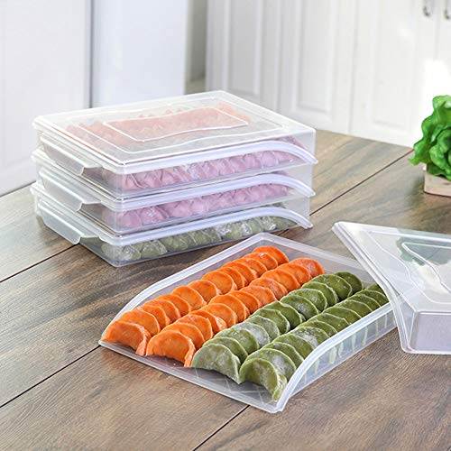 XdremYU Aufbewahrungsbox Organizer Stackable Container Cube Basket Art and Craft Clear Home Kitchen Gefrorener Dumpling Aufbewahrungsbox Kühlschrank Frischhalteschale Transparent Color -