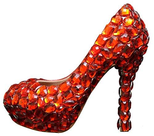 Miyoopark , Semelle compensée femme Red-12cm Heel