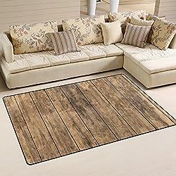 coosun Old de madera piso Alfombra Alfombra Antideslizante Alfombra De Suelo (Doormats para salón o dormitorio, 31x 20cm, tela, multicolor, 31 x 20 inch