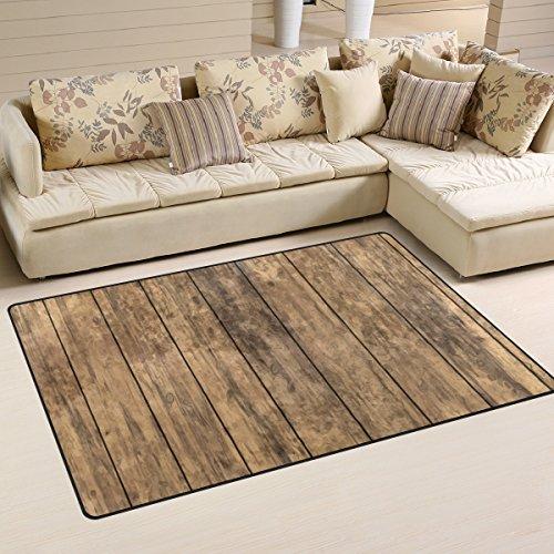 Küche Terrasse Möbel (coosun Altem Holz Boden Bereich Teppich Teppich rutschfeste Fußmatte Fußmatten für Wohnzimmer Schlafzimmer 78,7x 50,8cm, Textil, multi, 31 x 20 inch)