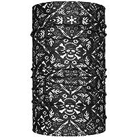 Head loop colour negro con diseño de calavera loop multifunción braga de cuello de tela de microfibra paño de la cortina