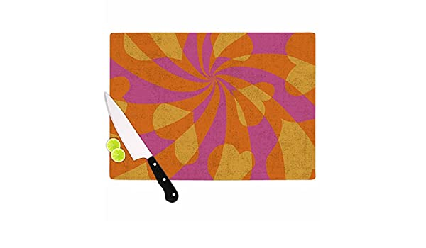 11.5 x 8.25 KESS InHouse NF1003ACB01 Nacho FilellaHeart Explosion Magenta Pop Art Cutting Board Multicolor