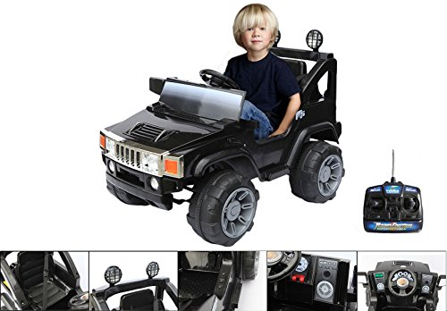 6v-electric-car-with-parental-remote-control-4x4-black-electric-hummer-for-children