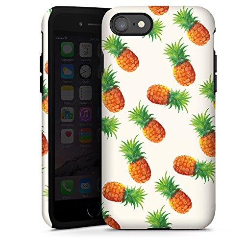 Apple iPhone X Silikon Hülle Case Schutzhülle Ananas Sommer 90er Tough Case glänzend