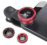 Lambent 3 in 1 Clip On Camera Lens Kit Mobile Lenses for All mobiles