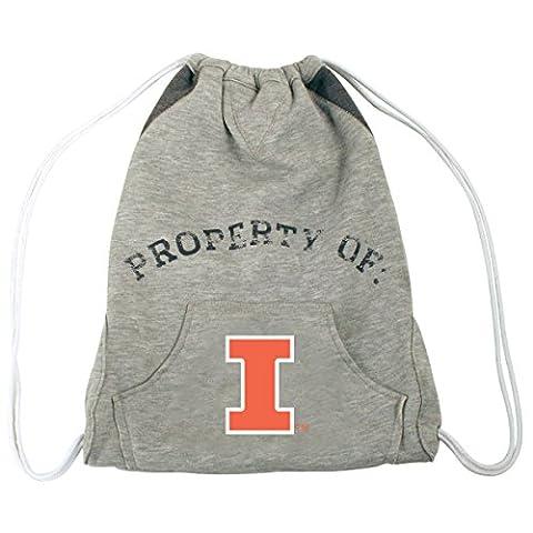 NCAA Illinois Illini Hoodie Cinch Backpack, 14 x 17-Inch, Gray