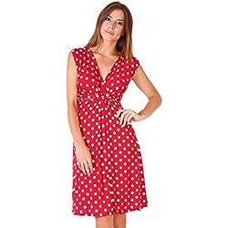 KRISP - Vestido - para mujer, Red [6147], 48