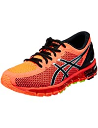 ASICS Women's Gel-Quantum 360 2 Flash Coral, Black And Silver Running Shoes -9 UK/India (43.5 EU)(11 US)