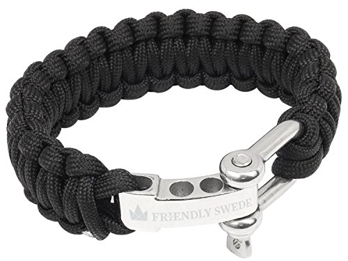 the-friendly-swede-premium-350-lb-paracord-survival-bracelet-with-stainless-steel-d-shackle-adjustab