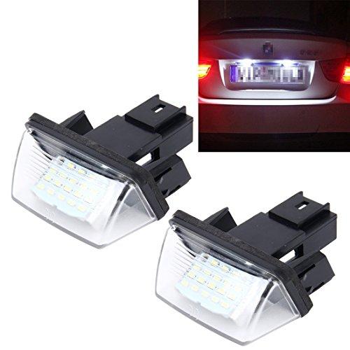 YaaGoo Plaques dimmatriculation lumi/ère LED for E82 E88 E90 E92 E93 E39