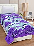 #10: Super India Kiss-You Single Bedsheet without Pillow Cover - Purple