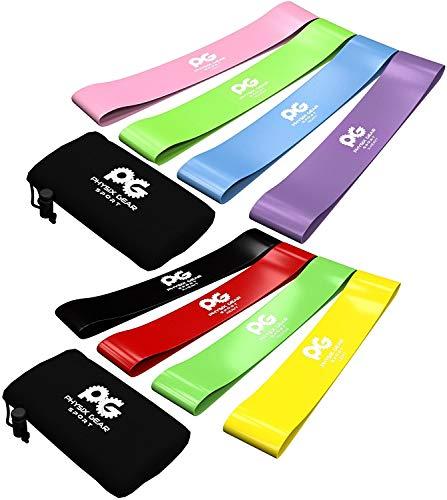 Widerstandsbänder, Set mit 4 Trainingsbändern für Workout und Physiotherapie, gratis EBOOK & Video - Pilates - Yoga – Reha, verbessern Beweglichkeit & Kraft, Ganzkörpertraining