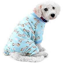 SMALLLEE_LUCKY_STORE Zebra Print Pijamas de Perro Ropa de Perro para Perros pequeños Pijamas de Perro Mono