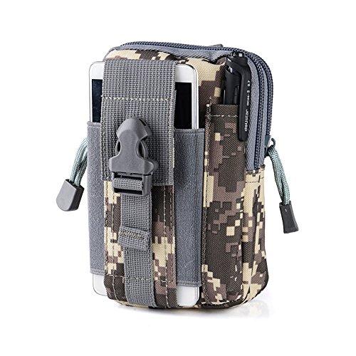Taktischer Beutel, Sayou® Taktische Molle / Molle Edc / Tac Pouch Mini Accessoire Beutel Tasche Hanytasche (ACU) Tac Weste Beutel