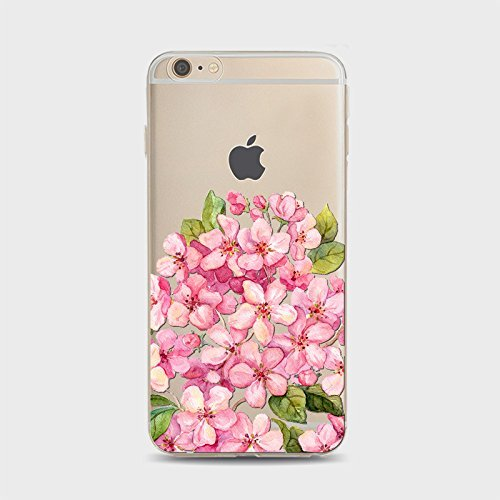 Coque iPhone 5 5s Housse étui-Case Transparent Liquid Crystal Sakura en TPU Silicone Clair,Protection Ultra Mince Premium,Coque Prime pour iPhone 5 5s-style 1 style 2