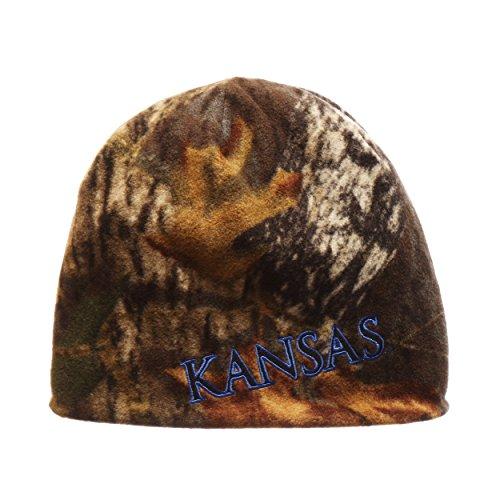 Zephyr Kansas Jayhawks Camouflage Mossy Oak Skull Cap-NCAA Ohne Camo Winter Knit Beanie Hat - Camo Knit Beanie