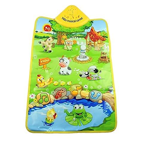 Tonsee Music Sound Farm Animal Kids Baby Play Playing Mat Carpet Play mat Gym Toy, 60cm x 40cm/23.62 x 15.75