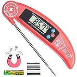 Sofortige Lesbares Grillthermometer Küchenthermometer Fleischthermometer für Grill und Kochen Aktualisiertes Modell mit Magnet-und Kalibrierfunktion Die Beste und Schnelle Digitale Küchensonde