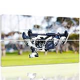 Feeby. Tableau multi panneaux - 2 parties - Impression sur toile, Décoration murale, Image imprimée, 60x60 cm, DRONE, TECHNOLOGIE, BLANC, VERT