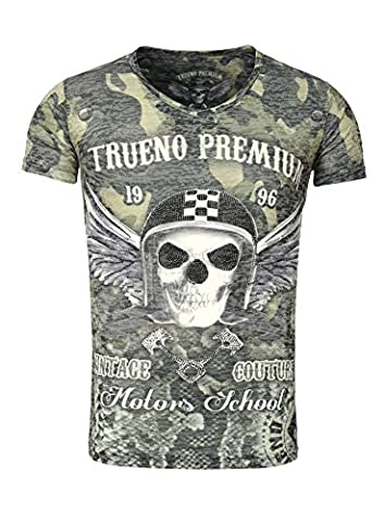 Trueno Prime Men T-Shirt AVILA skull Flügel Wings Dog Tag