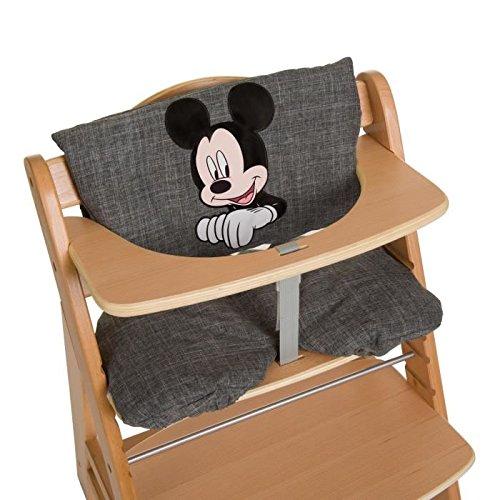 Hauck Hochstuhlauflage Luxe Mickey–Sitzkissen, Farbe grau