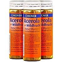 HOYER Acerola & Wildfrucht Tabletten (3 x 30g) preisvergleich bei billige-tabletten.eu