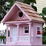Garden Bazaar Hbb-1004Cotton Candy Cottage Bird House–Rose