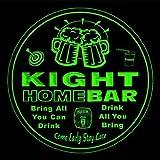 4x ccq23274-g KIGHT Family Name Home Bar Pub Beer club Gift 3D Coasters