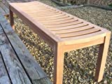 Solid Teak Sustainable Backless Garden / Patio Bench - 3 seater - 150cm