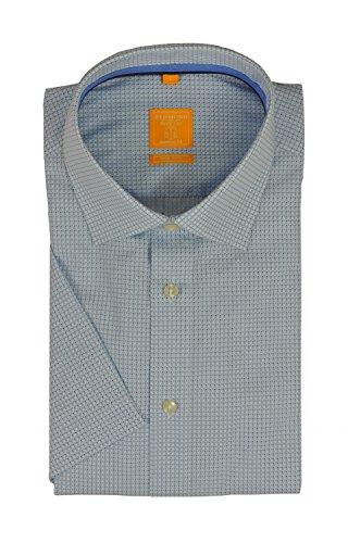 Michaelax-Fashion-Trade -  Camicia classiche  - Basic - Classico  - Maniche corte  - Uomo Blau(13)