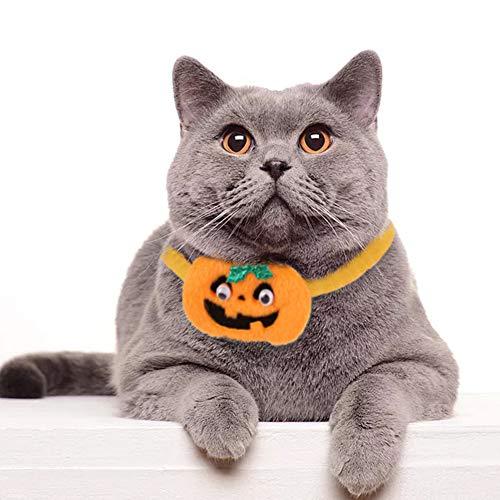 LPxdywlk Halloween-Haustier-Hundewelpen-Schneemann-Stern-Kürbis-Form-Kragen-lustige Katzen-Hals-Bügel-Weihnachtszusätze 3# SNone