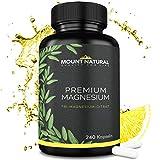 Premium Magnesium - 240 Kapseln a 500 mg Magnesiumcitrat, davon 16% elementares Magnesium. EINFÜHRUNGSANGEBOT! Laborgeprüft und frei von Zusatzstoffen. Vegan, hochdosiert, hergestellt in Deutschland