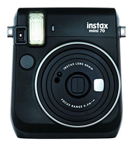 Fujifilm instax mini 70 midnight black fotocamera istantanea per stampe formato 62x46 mm, nero