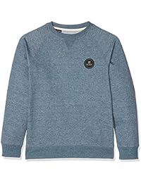 Billabong–Camiseta de Todo El Día redondo Fashion forro polar, Niños, All Day Crew, Slate Blue, talla 12