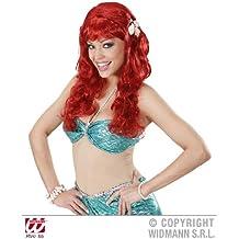 Red Mermaid Wig With Shells Disney Ariel Little Mermaid Fairy Tale Fancy Dress