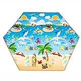 Couvertures de pique-nique Tapis de ressac de pique-nique étanche à l'humidité Tapis de camping en peluche Hexagon extérieur portable ( Couleur : Ocean Park , taille : 250*250cm )