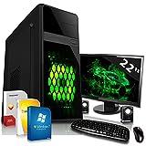 Set complet PC/multimédia avec 3ans de garantie de bureau avec Windows 7Professional 64bit.–Dual Core APU AMD A4–63002x 3,9GHz Turbo–Radeon HD8370D avec 2Go Hyper Memory–22pouces écran TFT–8GB DDR3RAM–500Go Hdd–24compartiments Graveur DVD–Haut-parleur–Clavier + Souris–USB 3.0–DVI–HDMI–VGA