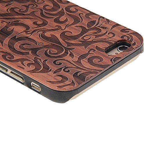 Phone case & Hülle Für IPhone 6 / 6s, Sanduhr-Stunden-Handmuster PC-Rahmen-Palisander-hölzerner Fall ( SKU : S-IP6G-0903G ) S-IP6G-0903B