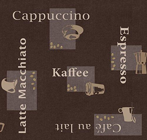 d-c-fix Wachstuch Wachstischdecke Gartentischdecke Tischdecke Kaffee Braun Cappuccino Espresso...